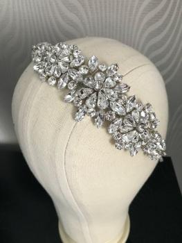 Crystal flower headband.
