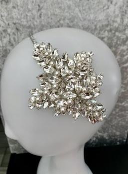 Preciosa crystal leaf headband.