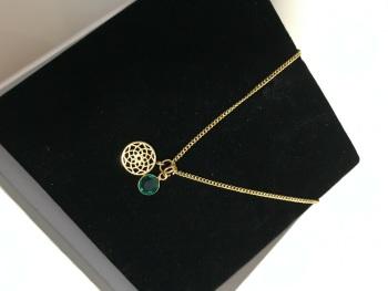 Birthstone Gold Plated Mandela Necklace.