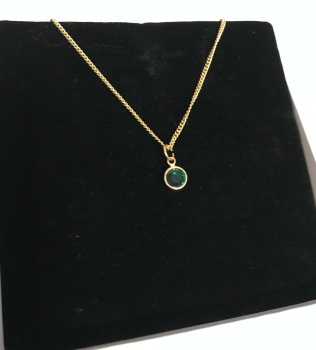 Birthstone Gold Plated Swarovski pendant Necklace.
