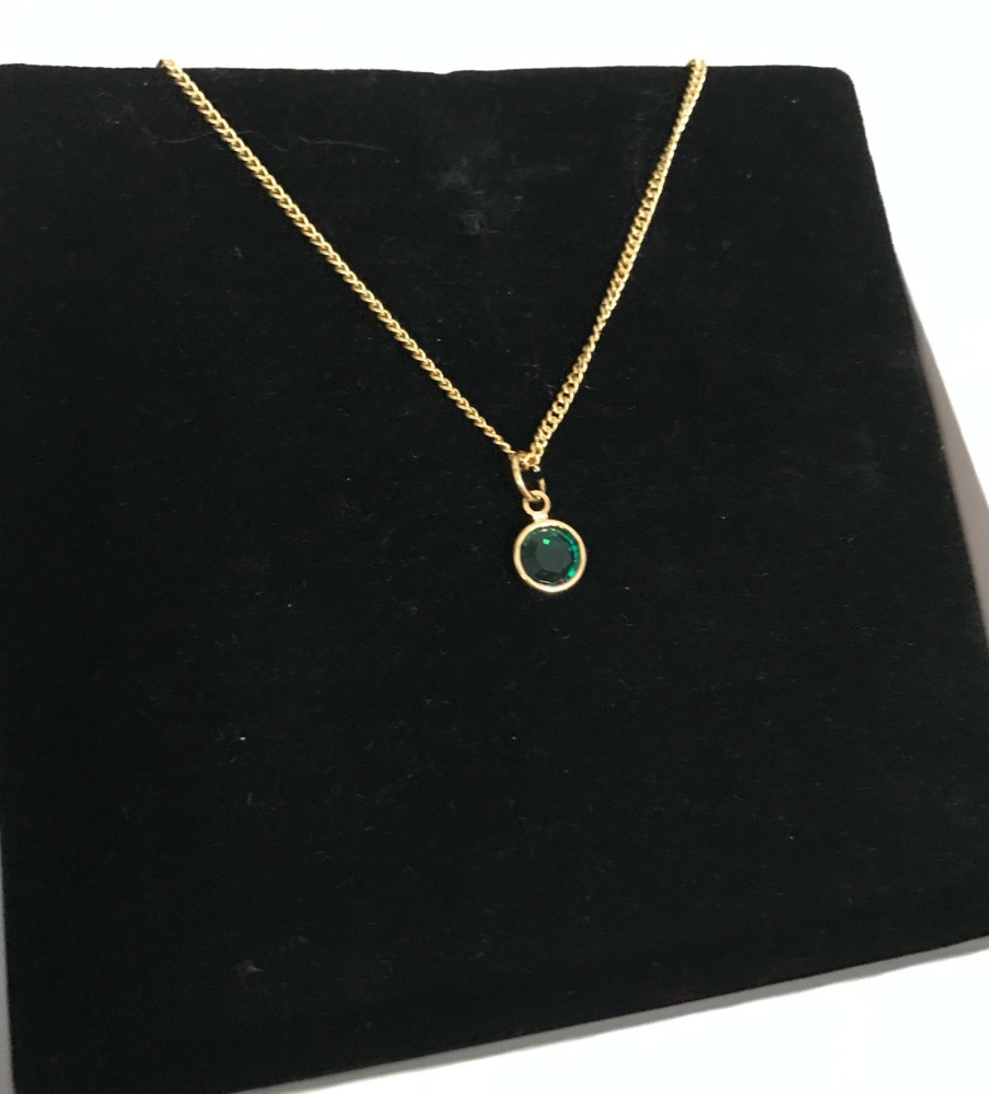 Birthstone Gold Plated Mandela Necklace.