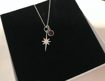 Birthstone Star Necklace.