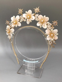 Flowers and Stars bridal headband