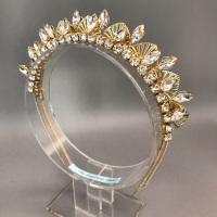 Art Deco Gold Sunburst Halo Tiara.