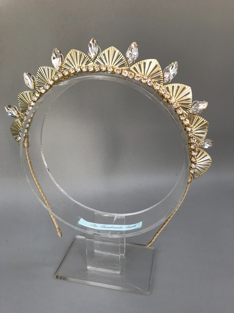 Art Deco Double Stacker Halo Tiara.