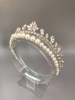 Art Deco Silver Ray Of Light Halo Tiara.
