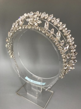Art Deco Large Silver Ray of Light Halo Tiara.