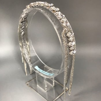 Silver Preciosa Hollywood Headband Tiara