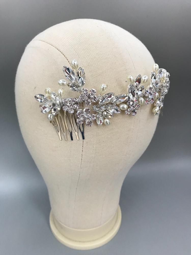 Empress back Comb Crystal.