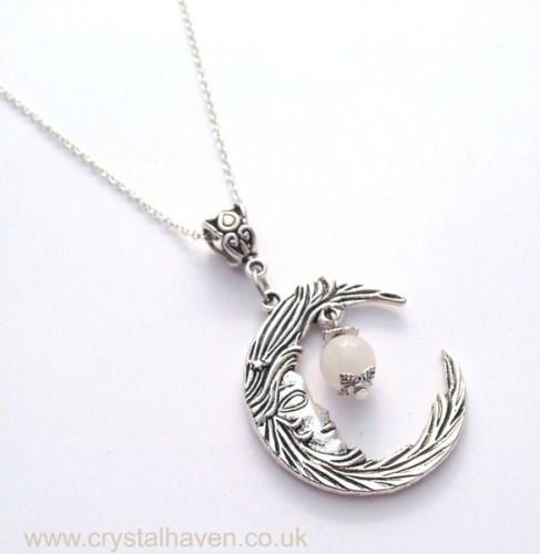 Rose Quartz Luna Necklace