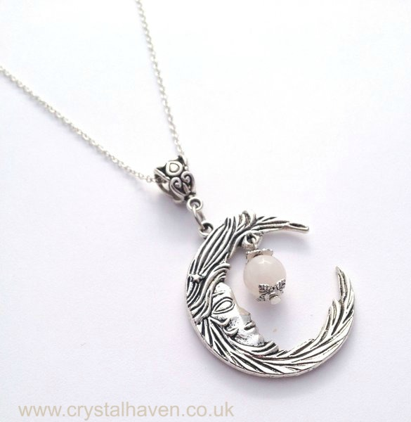 Rose Quartz Luna Necklace