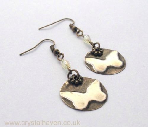 Brass Butterfly Earrings