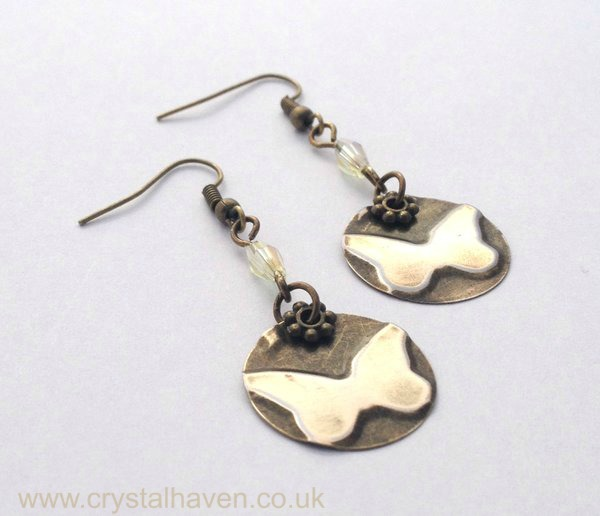 Brass Butterfly Earrings