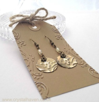 Brass Splash Earrings