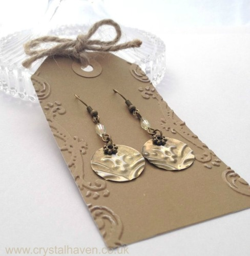 Brass Splash Earrings