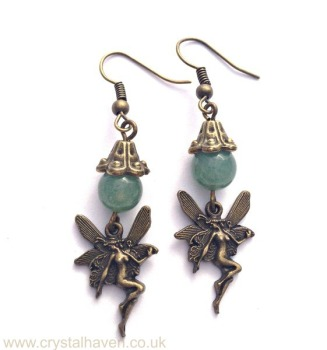 Green Aventurine Fairy Earrings