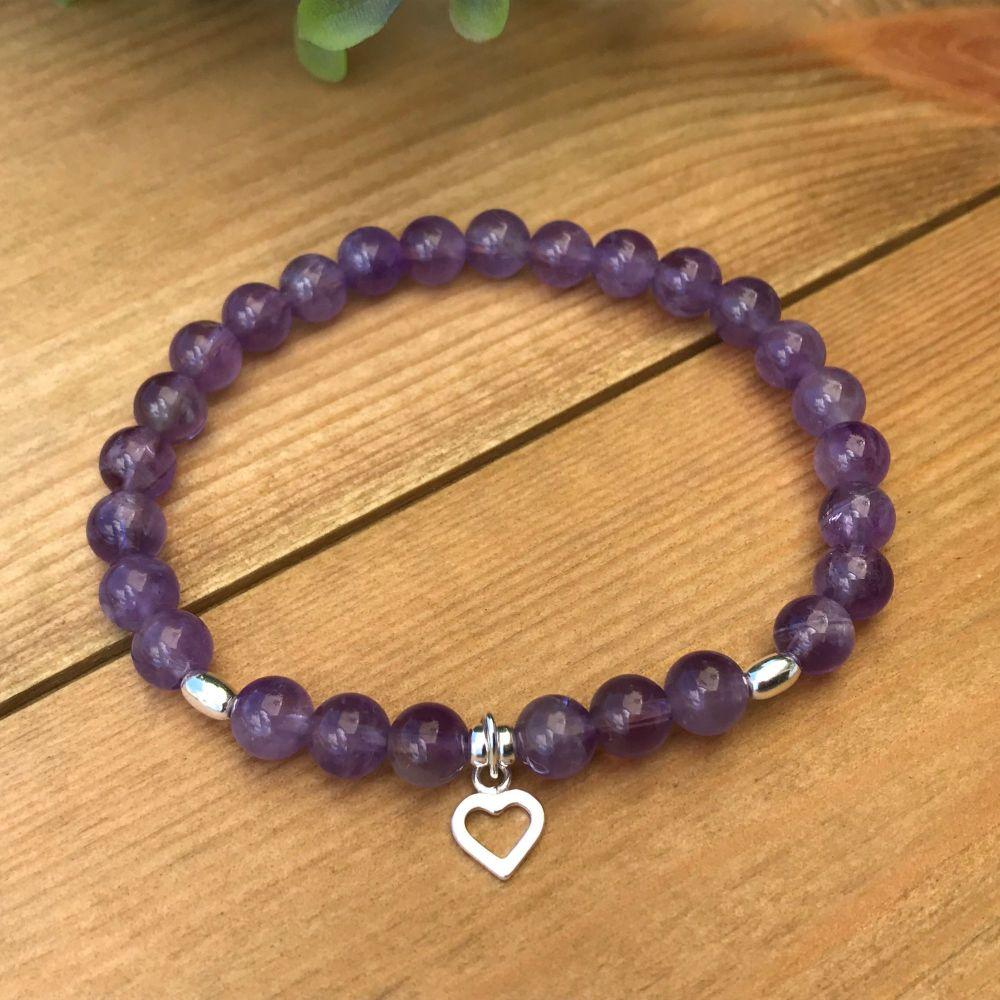 Sterling Silver - Amethyst Bracelet