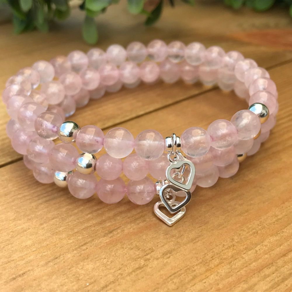 Sterling Silver - Rose Quartz Bracelet