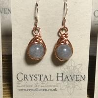 Labradorite Rose Gold Earrings