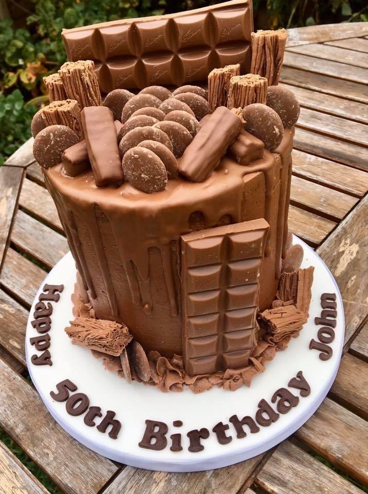 Cadbury drip cake