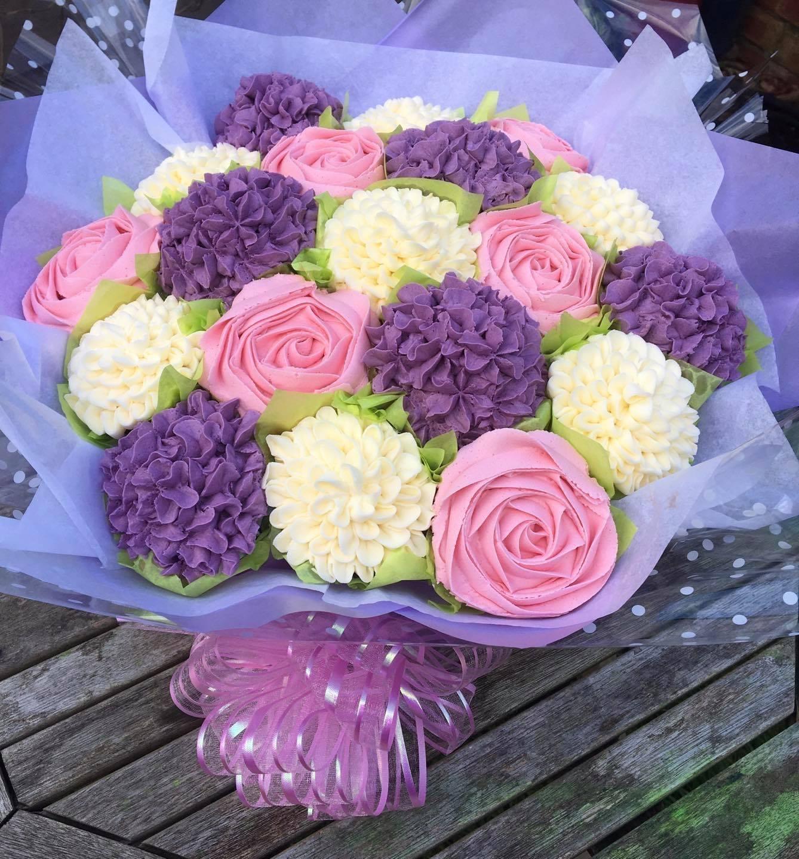 Bouquet purple pink