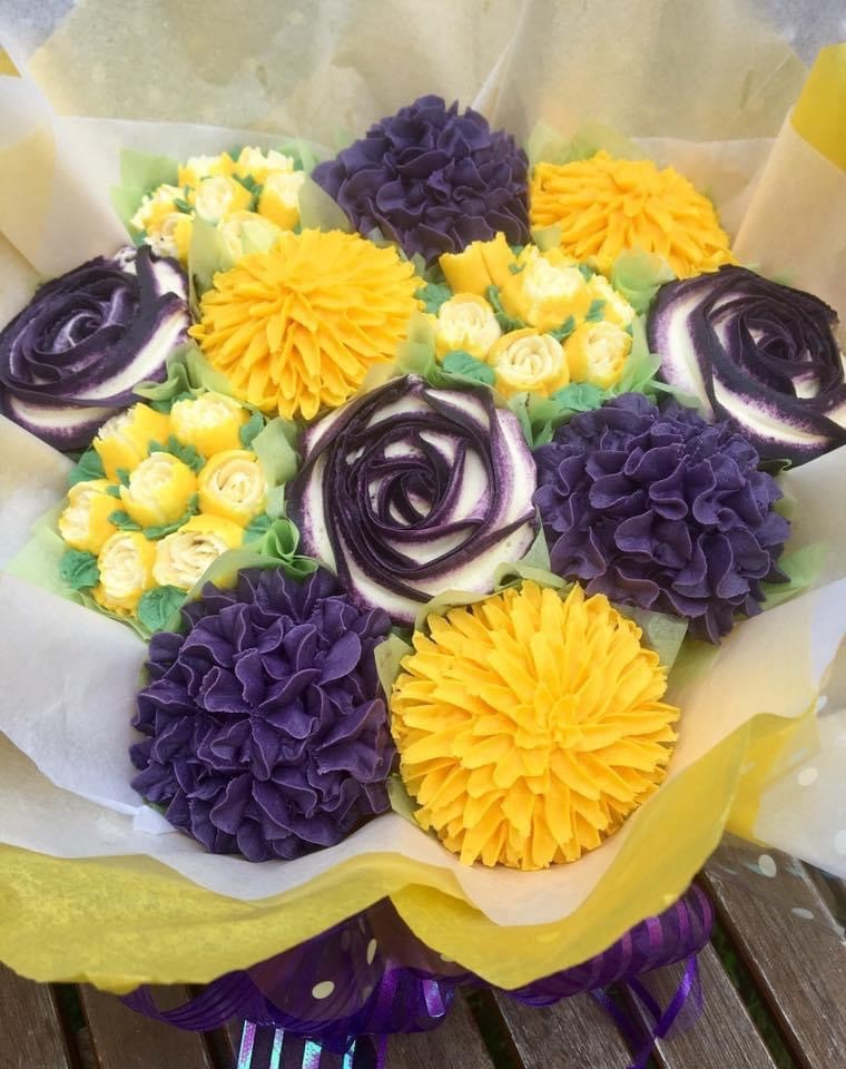 Bouquet purple and yellow