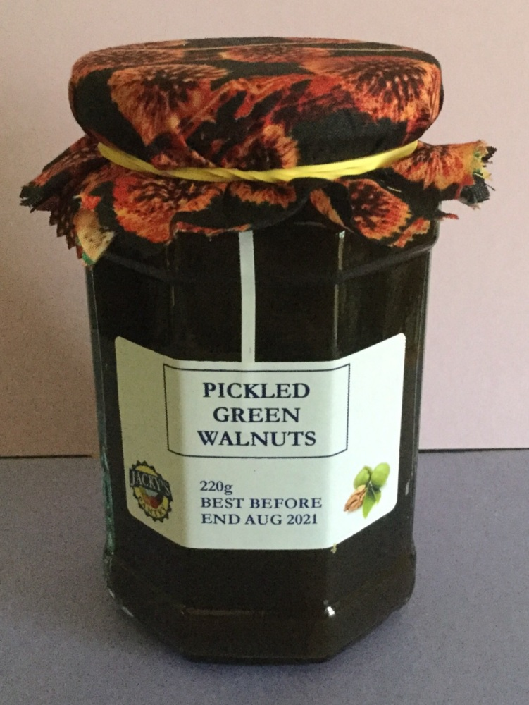 Pickled Green Walnuts