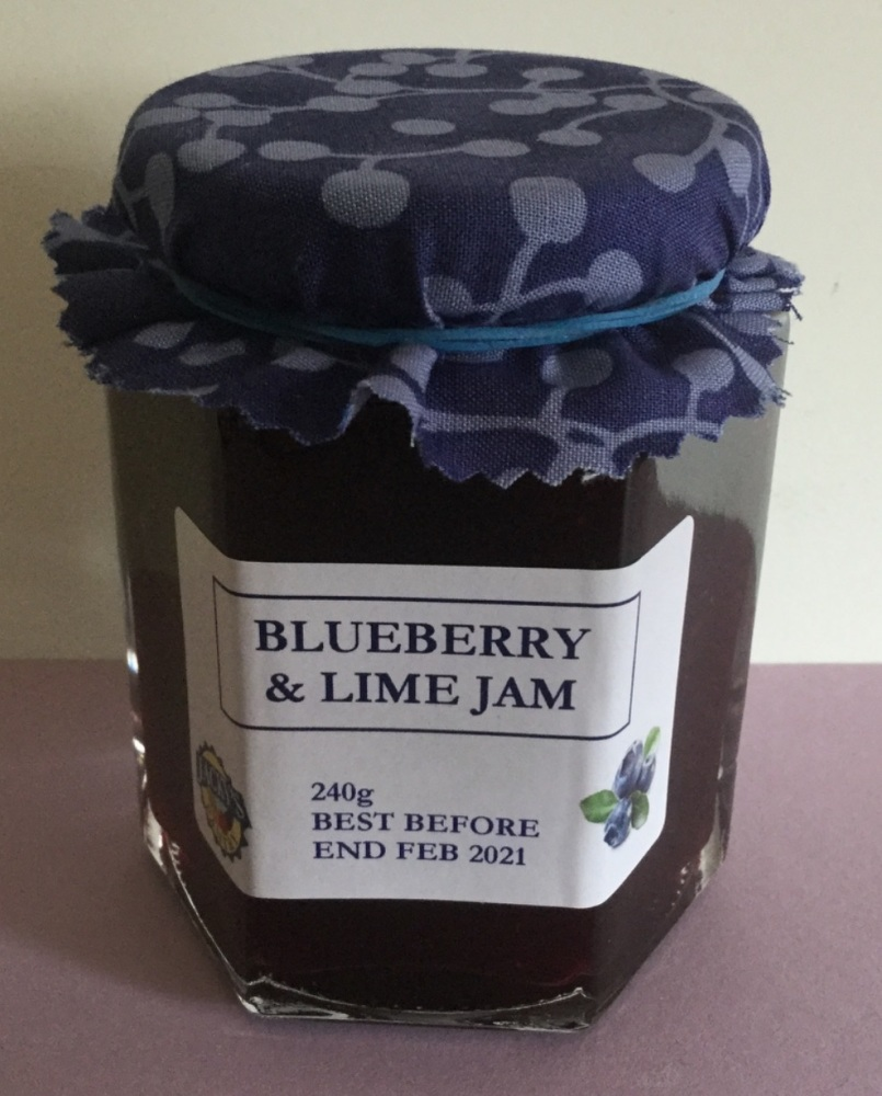 Blueberry and Lime Jam