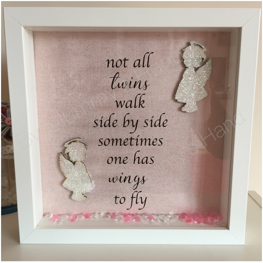 Twin Wings To Fly Boy Girl Box Frame