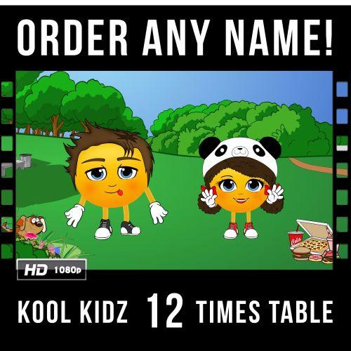 ✩ Kool Kidz Personalised-12 Times Table Video