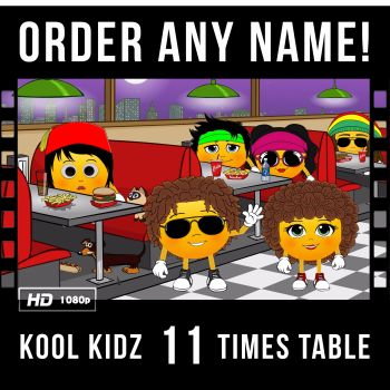 ✩ Kool Kidz Personalised-11 Times Table Video
