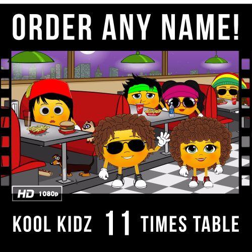 ✩ Kool Kidz Personalised-11 Times Table Video