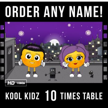 ✩ Kool Kidz Personalised-10 Times Table Video