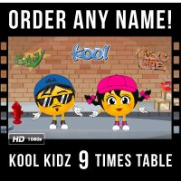 ✩ Kool Kidz Personalised 9 Times Table Video