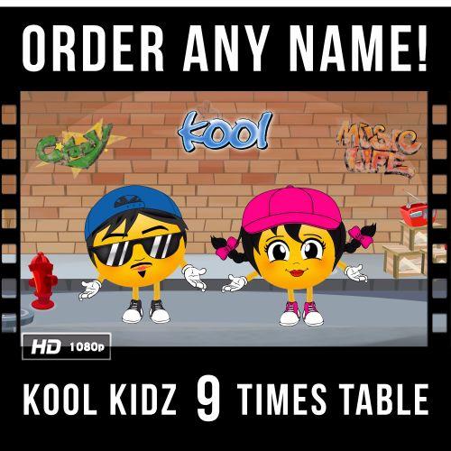 ✩ Kool Kidz Personalised 9 Times Table Video