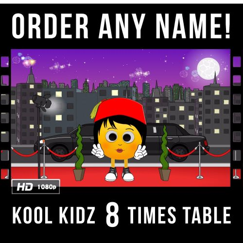 ✩ Kool Kidz Personalised 8 Times Table Video