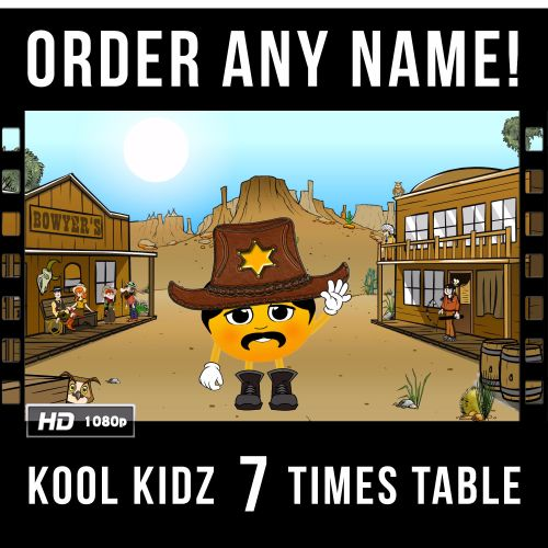 ✩ Kool Kidz Personalised 7 Times Table Video