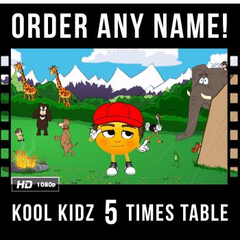 ✩ Kool Kidz Personalised 5 Times Table Video