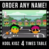 ✩ Kool Kidz Personalised 4 Times Table Video