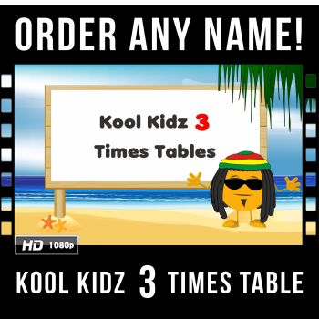 ✩ Kool Kidz Personalised 3 Times Table Video