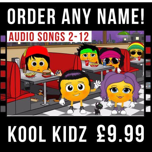 Kool Kidz Times-Tables (PERSONALISED AUDIO SONGS 2-12)