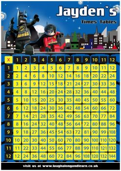✩ Personalised Batman Times Tables Chart