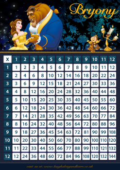 ✩ Personalised Belle, Beauty & The Beast Times Tables eBOOK