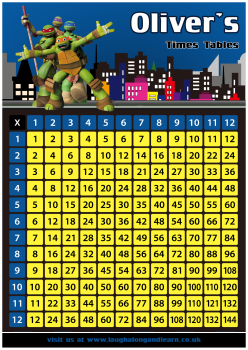 ✩ Personalised Turtles Times Tables eBOOK