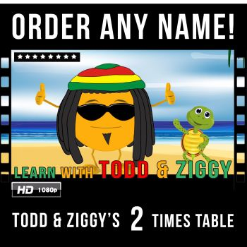 ✩ 2 Times Table Video with Todd & Ziggy!