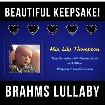 ✩ Brahms Lullaby Instrumental Song