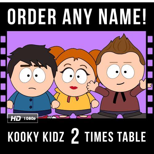 ✩ Kooky Kidz 2 Times Table Personalised Video!