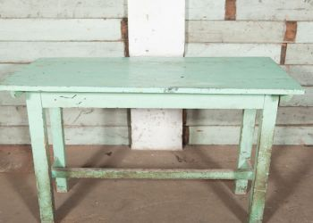 Green wooden Table