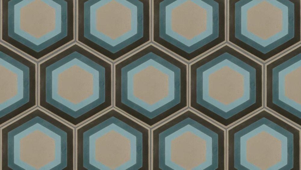 Encaustic Tile ~ Patisserie Hexagon