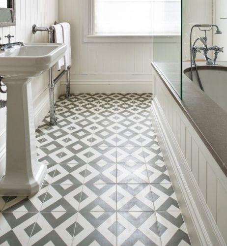 Encaustic Modern Harlequin Pattern Tile